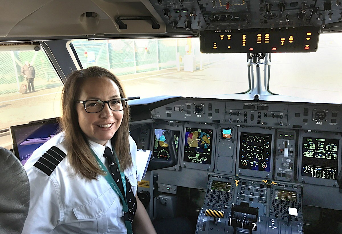 """I was determined to get my pilot licence,"" WestJet's Athenia Jansen told PAX in an interview last year. (Photo courtesy of Athenia Jansen)"