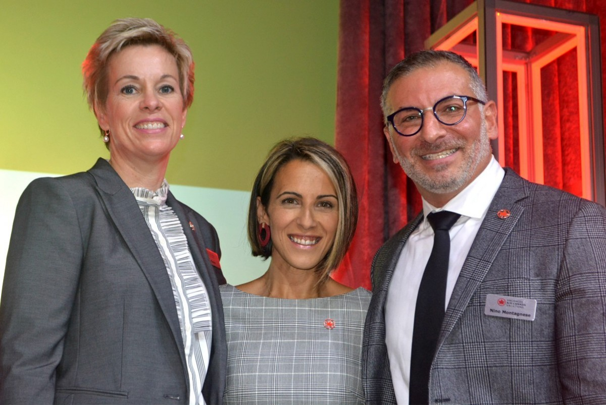 From left (of ACV): Dana Gain, senior director of sales; Erminia Gallina, general manager, sales, Ontario; Nino Montagnese, managing director.