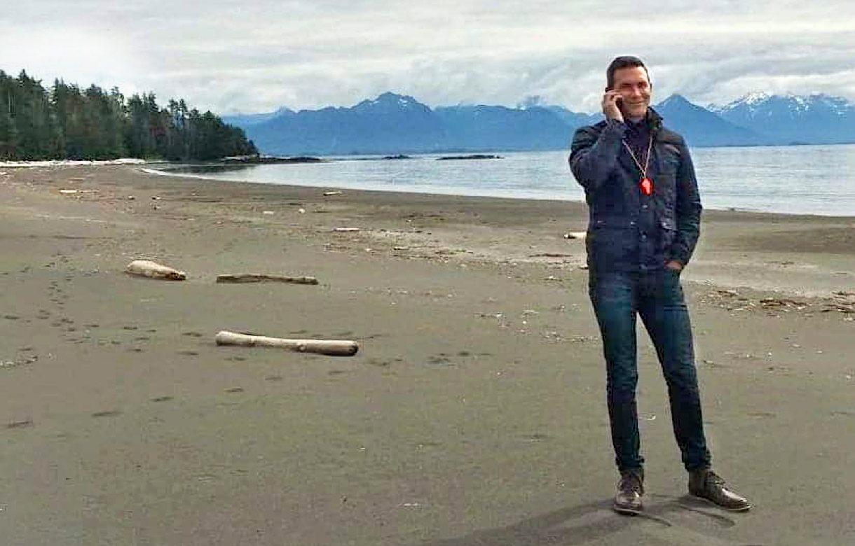 """Always different and always fascinating!"" is how Morgan, seen here on a conference call in Alaska, describes his job. (Supplied photo)"