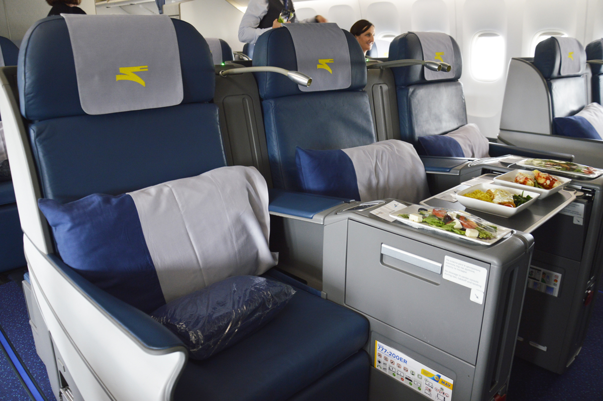 Business class aboard UIA's B777, flying from Toronto to Kyiv