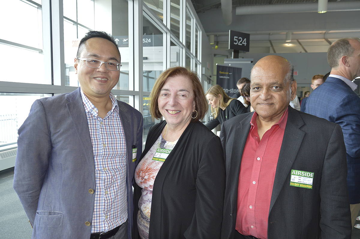 From left: Harold Ho, vice-president, marketing & business development, Royal Scenic; Ellen Melman, director operations & marketing, travel industry, clergy & community liaison – Canada, Israel Ministry of Tourism; Tres Lobo, destination specialist, Dan Tours.