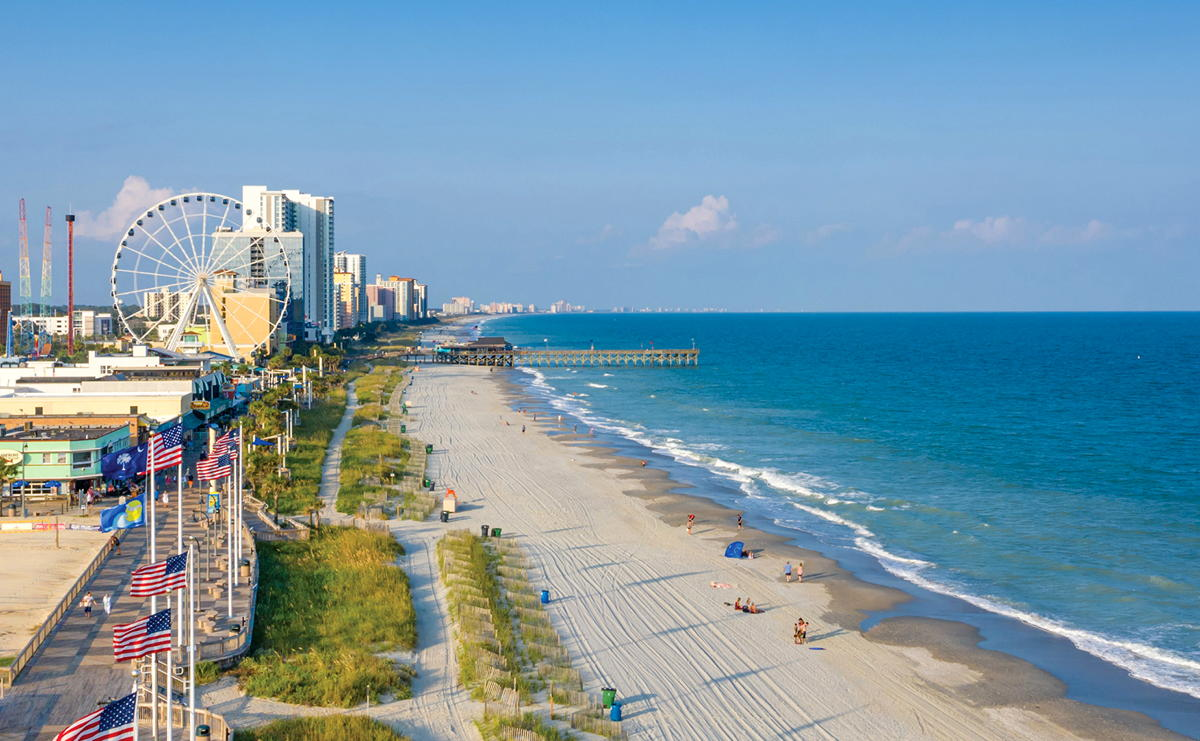 Myrtle Beach, located along the mid-Atlantic region of the eastern United States, is back in business. (Visit Myrtle Beach)