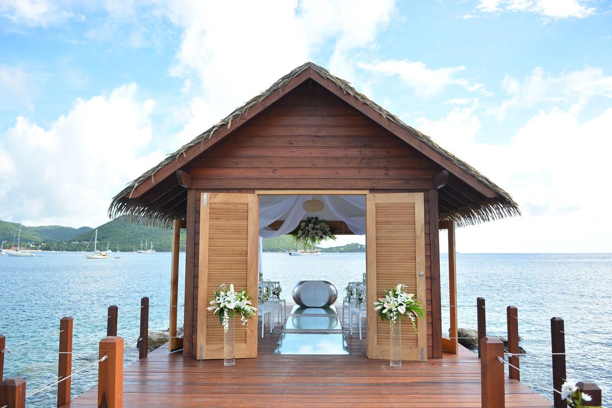 Sandals opens Caribbean's first overwater wedding chapel
