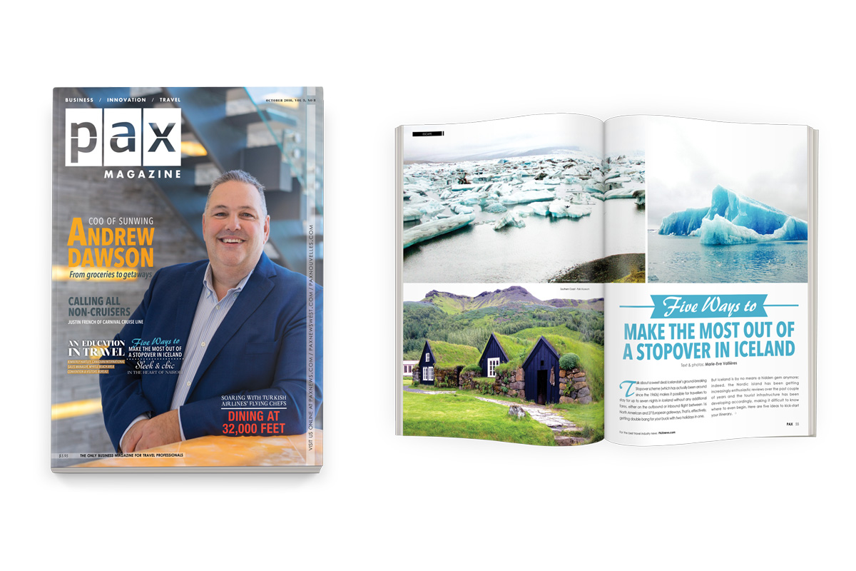Sunwing's Andrew Dawson featured in latest edition of PAX