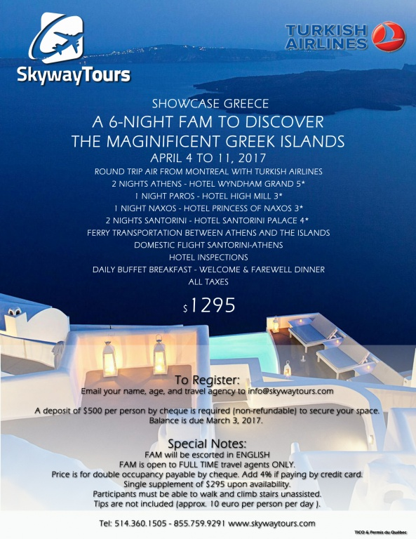 FAM TRIP to GREECE