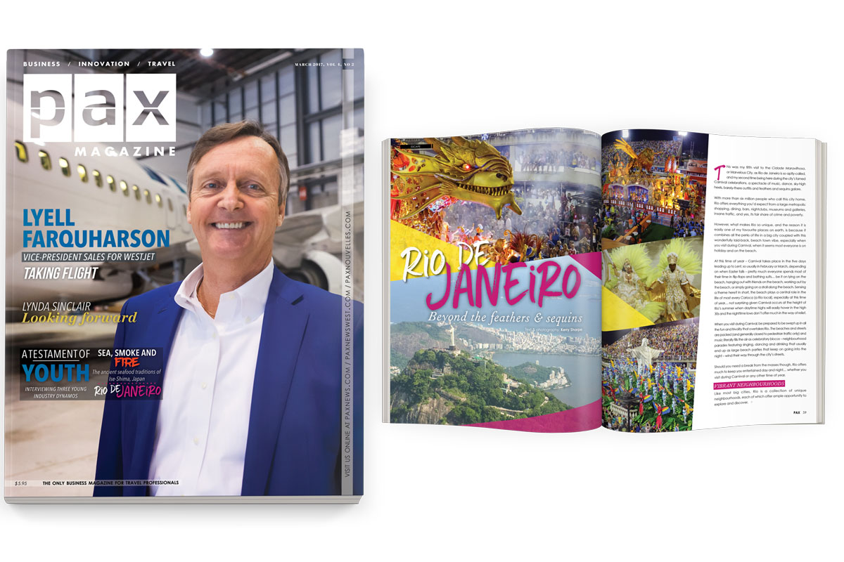 WestJet's Lyell Farquharson featured in newest issue of PAX
