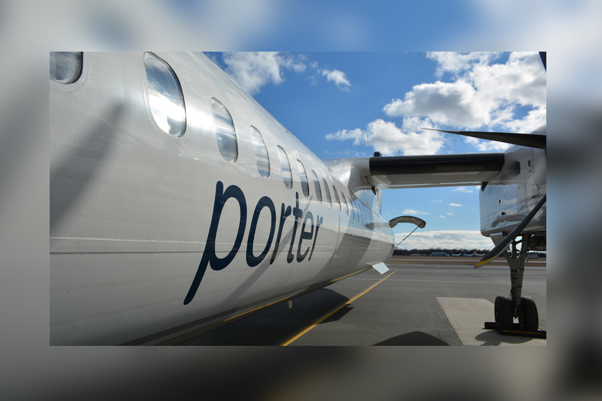 Porter grows fleet with delivery of new Q400 airliner