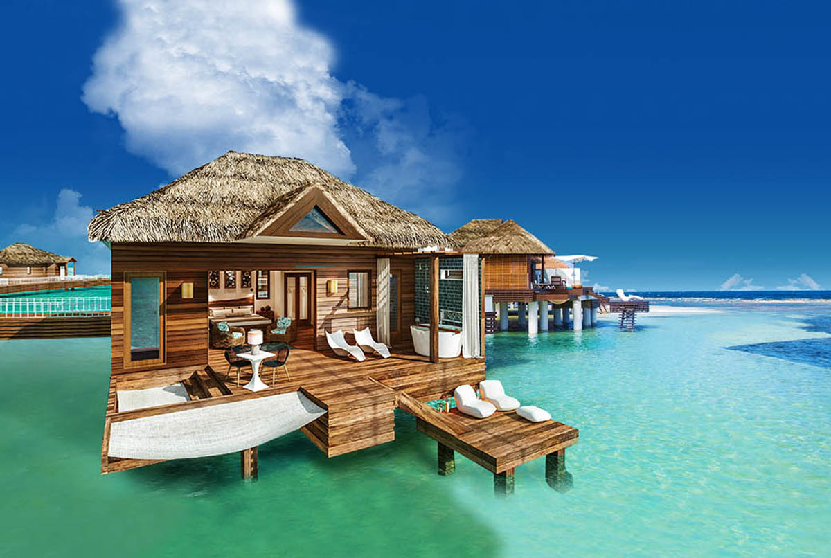 paxnews over the water bungalows coming to sandals south coast. Black Bedroom Furniture Sets. Home Design Ideas