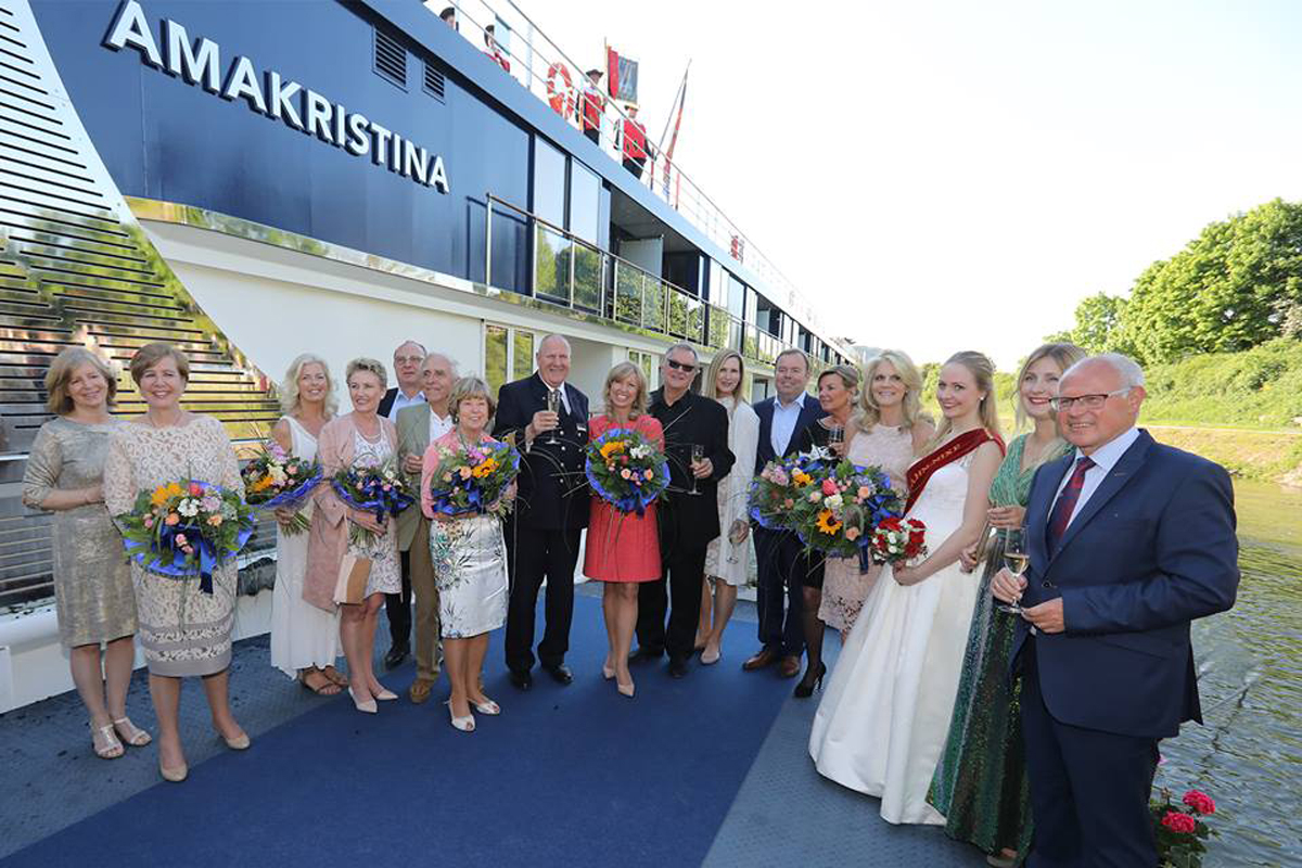 [EXCLUSIVE VIDEO] AmaWaterways welcomes AmaKristina