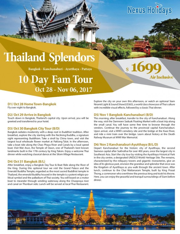 Thailand Splendors 10 days