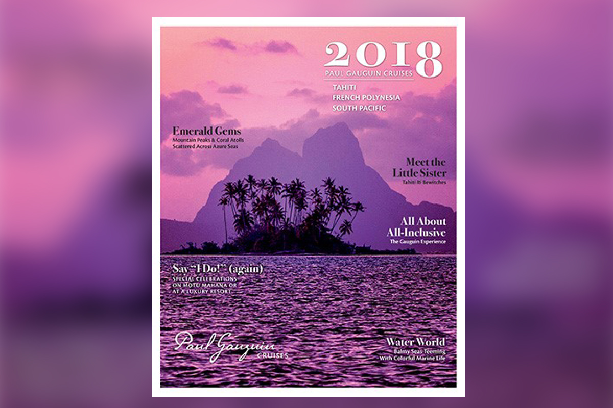 Paul Gauguin Cruises debuts 2018 brochure