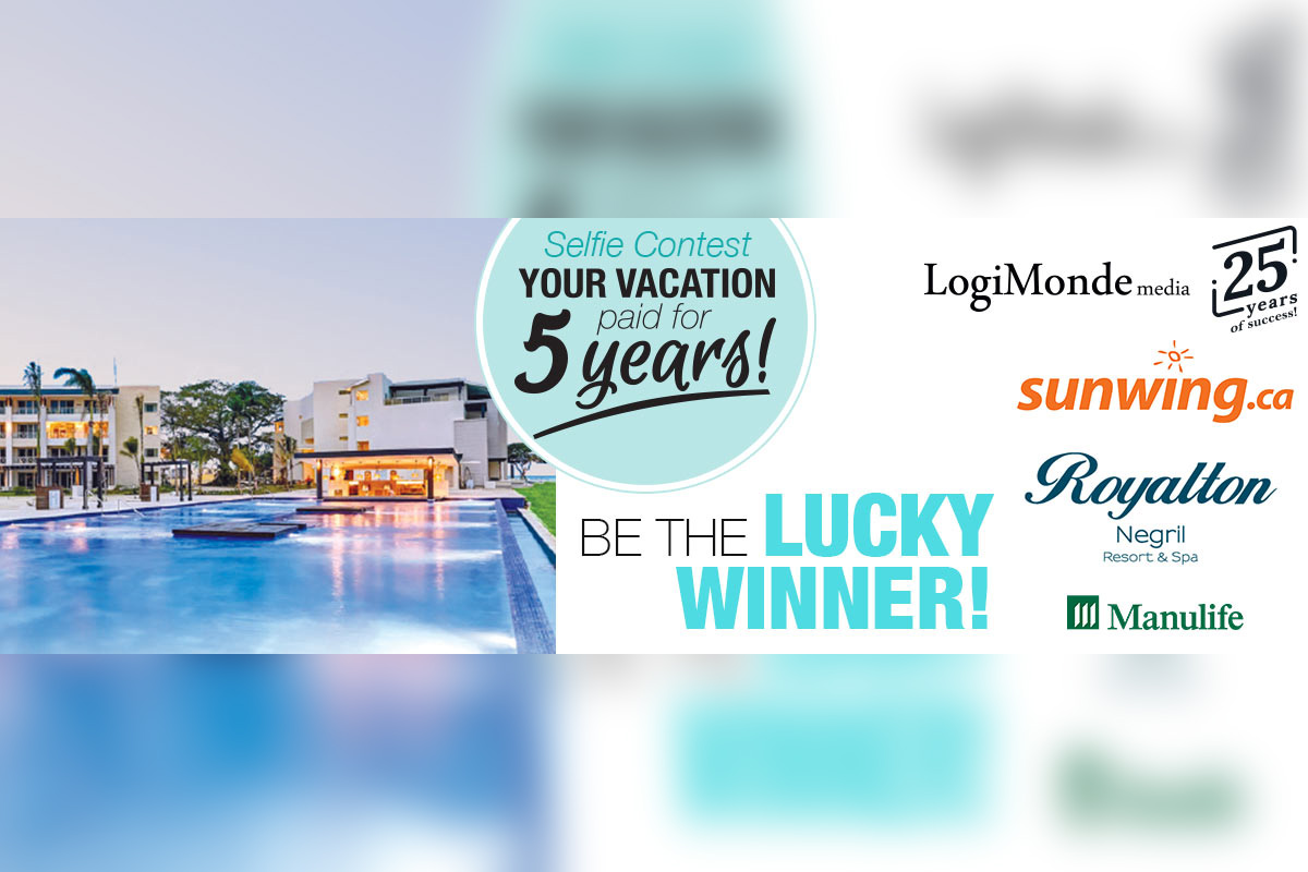 Win five years of paid vacation with your next selfie!
