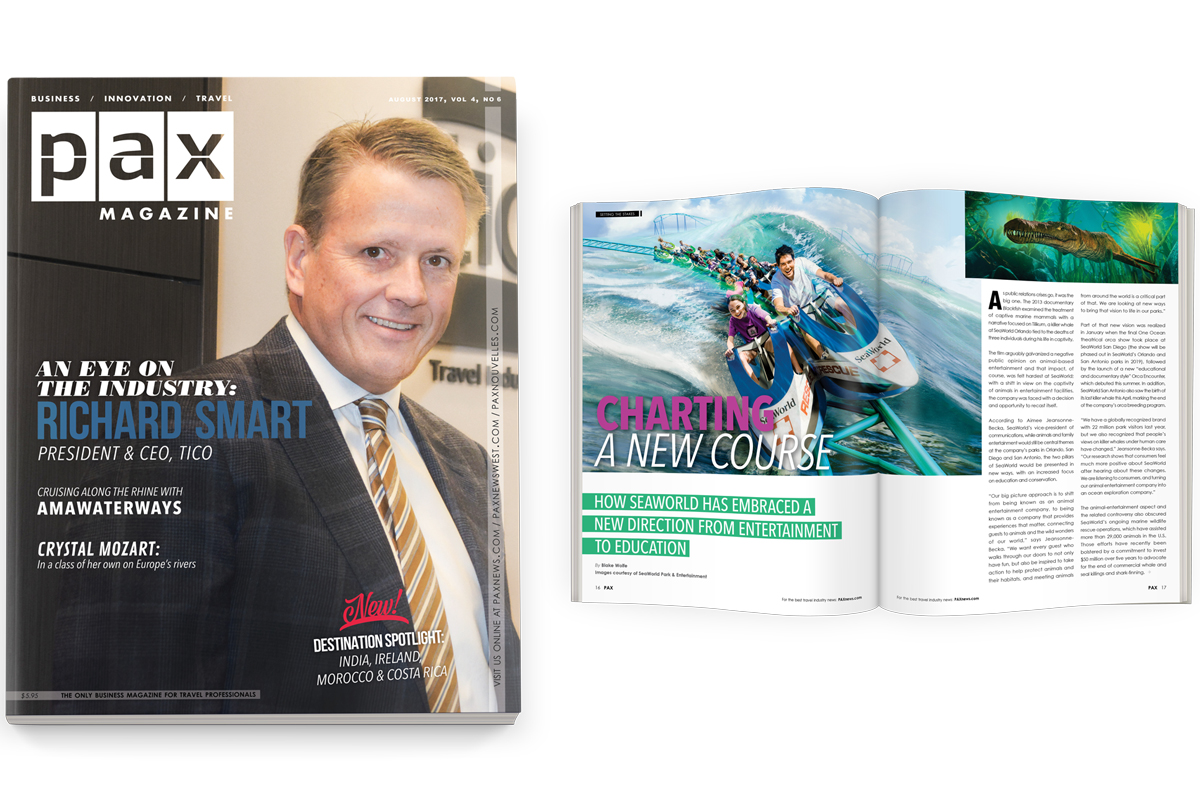 TICO's Richard Smart, SeaWorld featured in August edition of PAX