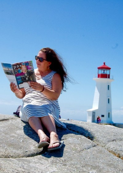"""""""Reading Pax with Peggy"""" in Peggy's Cove, NS"""