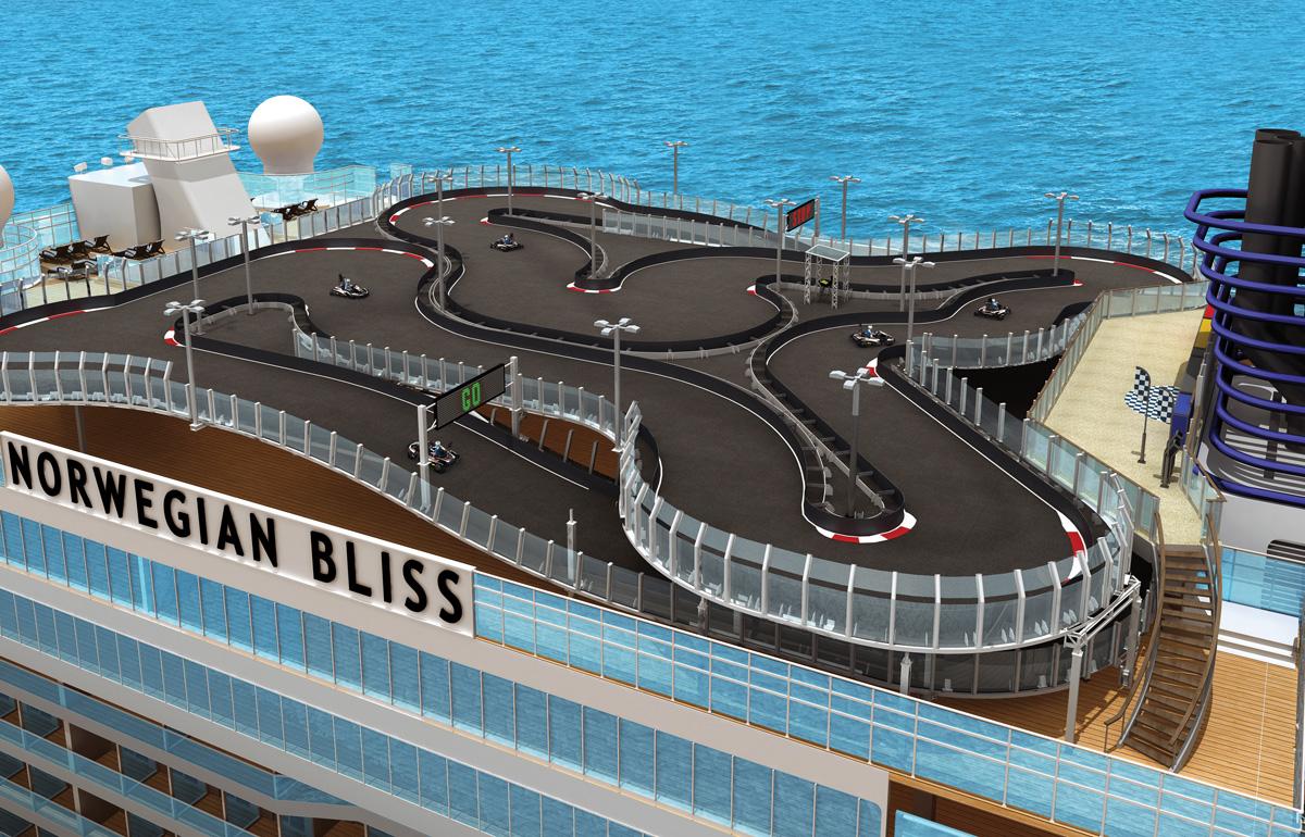 Norwegian Bliss: race tracks, restaurants and more