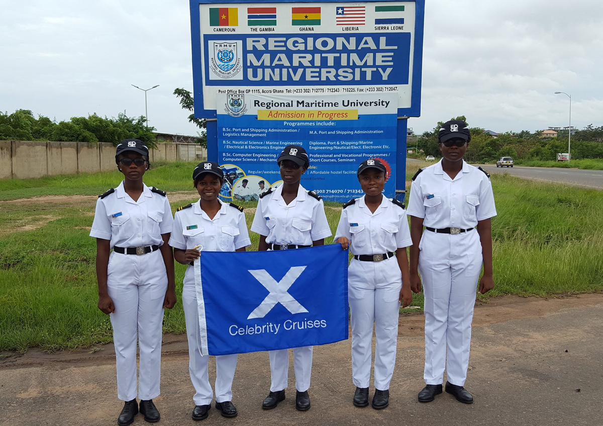 Celebrity Cadet Program sails in Ghana