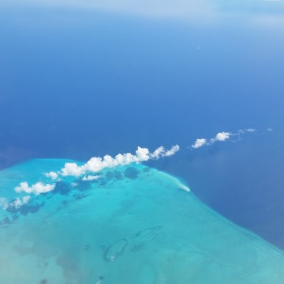 Flying over the Turks and Caicos