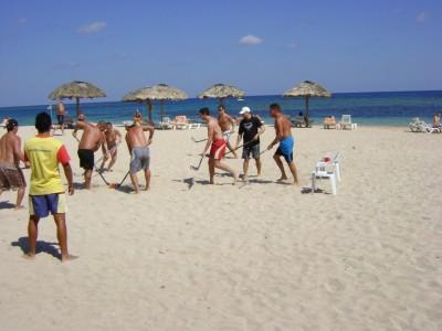 Hockey day at Breezes Jibacoa