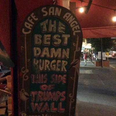A sign in a restaurant in puerto Vallarta!