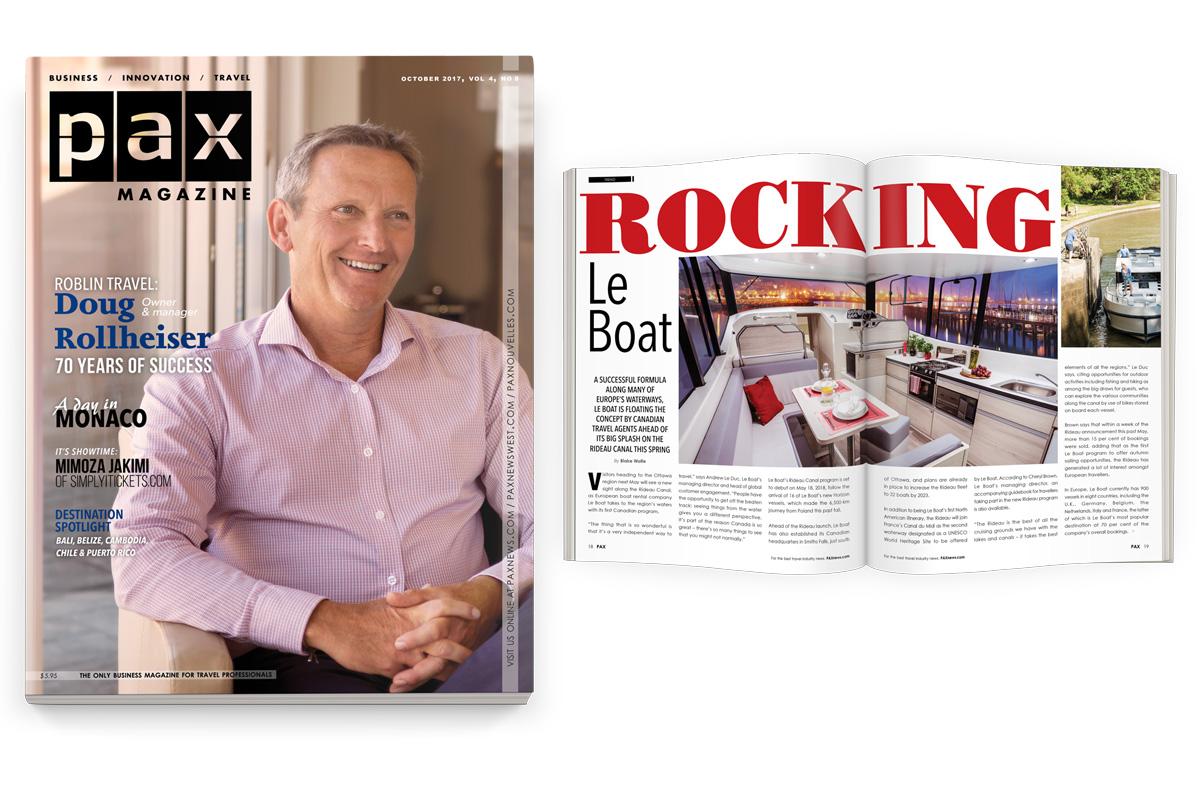 Roblin Travel's Doug Rollheiser featured in October's PAX