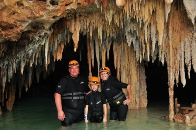 Rio Secreto Exursion offered by Sunwing. Was so awesome.