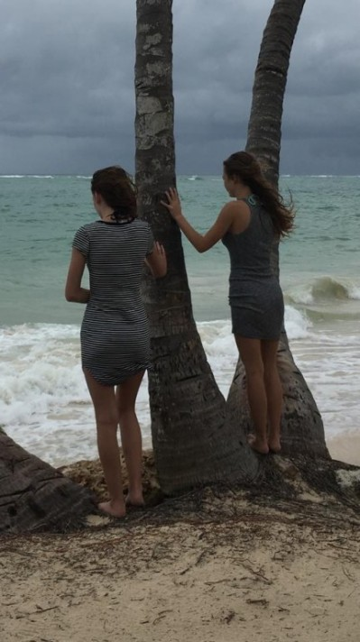 a stroll on a cloudy windy day on the beach in Punta Cana with my daughters. LOVE !!