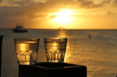 Vino at sunset RIU Aruba
