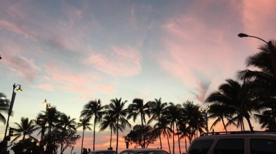 Sunset in Waikiki