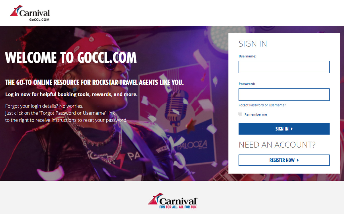 Carnival updates GoCCL.com for agents