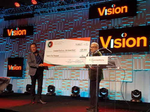 Vision supports hurricane relief with $25K donation