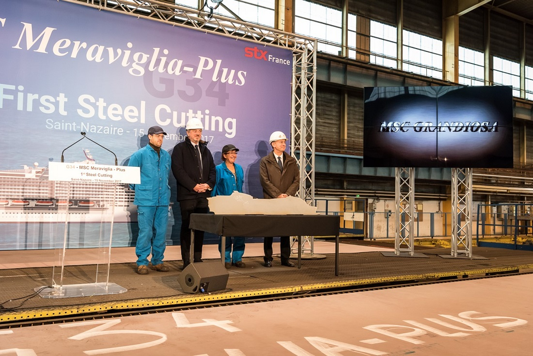 MSC Cruises introduces MSC Grandiosa at steel-cutting ceremony