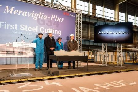 MSC Cruises introduces MSC Grandiosa at steel-cutting ceremony