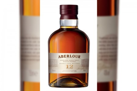 Porter Airlines serving complimentary Aberlour whisky