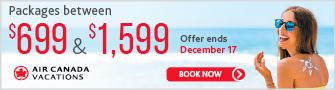 Air Canada Vacations -Bloc Nov 3 - Dec 11