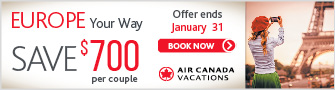 Air Canada Vacations -Bloc - Dec 18