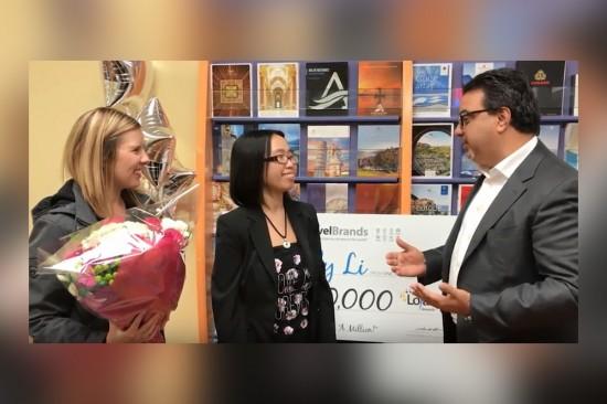 [VIDEO] TravelBrands awards its 1 million Loyalty Rewards points winner