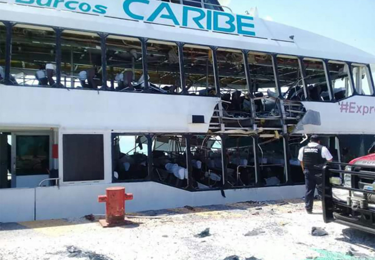 Conflicting reports in Playa del Carmen ferry explosion