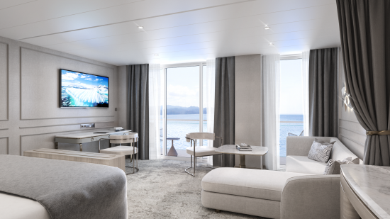 Here's a sneak peek at Crystal Endeavor's luxury suites