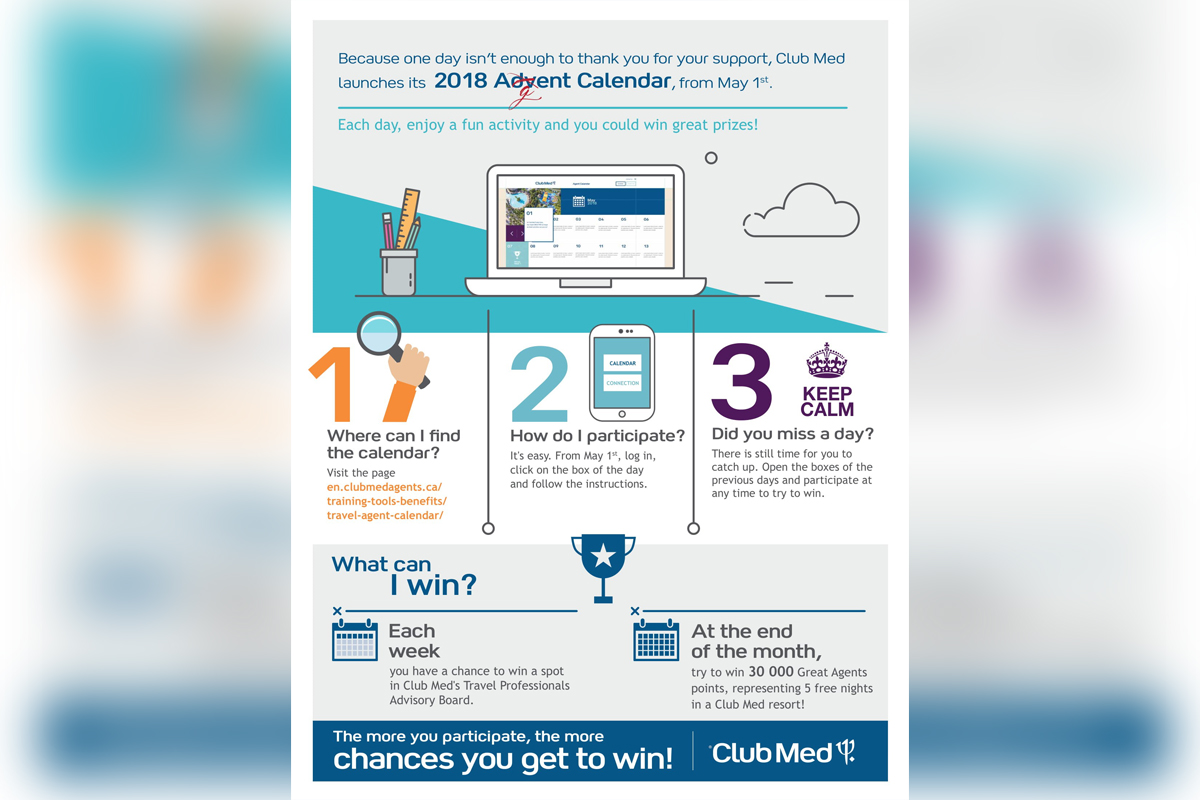 Win with Club Med's Agent Calendar