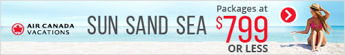 Air Canada Vacations - Search Box - May 23 Sand