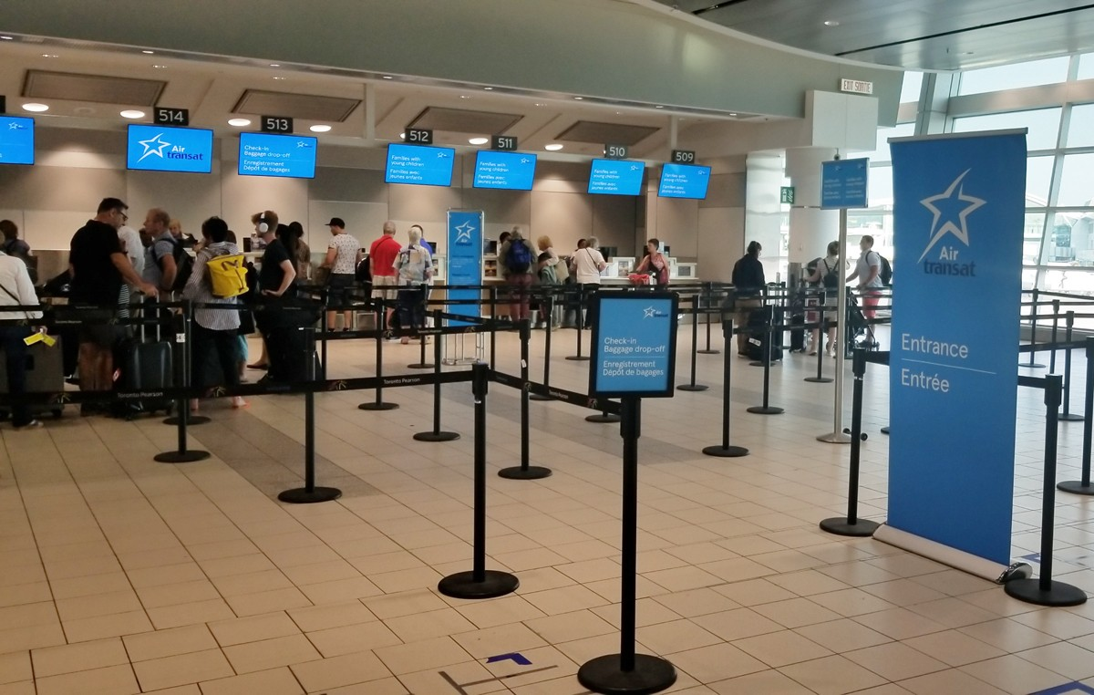 A first look at Air Transat's new YYZ check-in counters