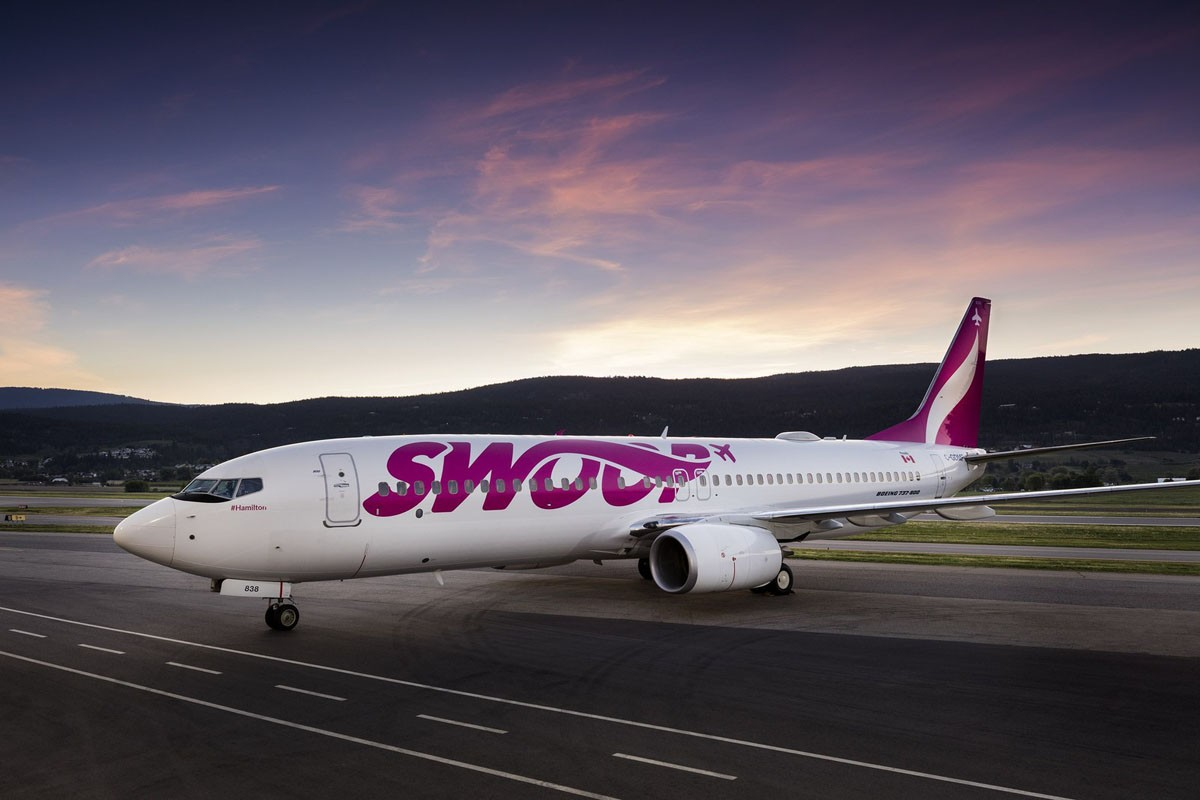 Swoop now flying Edmonton to Hamilton