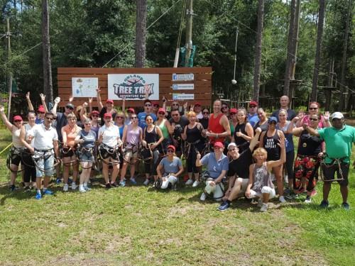 Day 1 #ACRaceKissimmee: foot golf, tree trekking, & a tasty detour