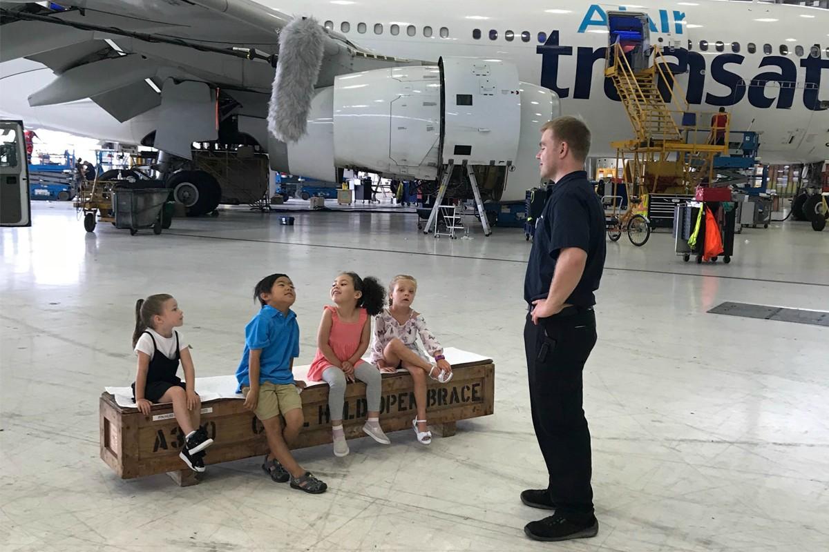 Transat's new web series lets kids explore aviation up close