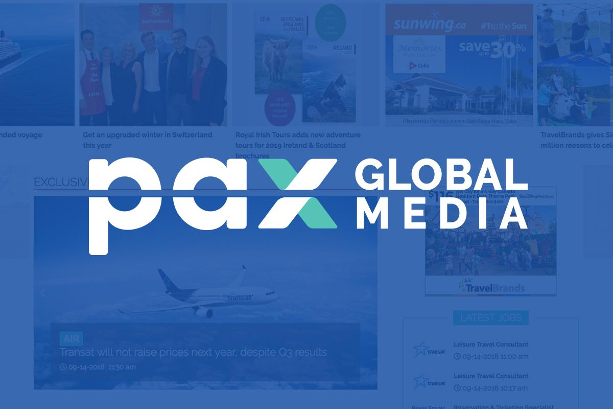 Logimonde media rebrands as PAX Global Media Inc.; TDC looking to the future