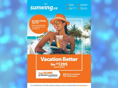 Sunwing invites Canadians to 'Vacation Better' with limited-time promo