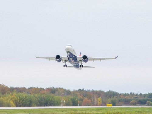 Delta's new A220-100 takes flight in Quebec