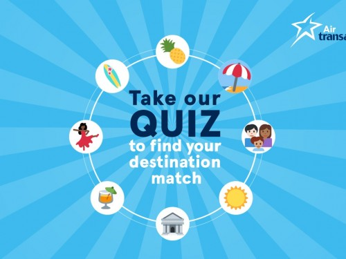 Click to Win a vacation down south with Air Transat