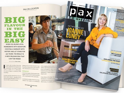 PAX's November issue has something every agent needs to sell more south