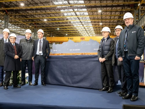 First steel cut for MSC Seashore